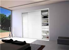 ארון לבן 2 דלתות הזזה - בית אומנות העץ