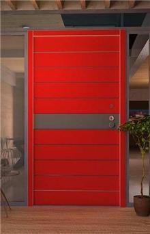 דלת חוץ אדומה - דקור - DECOR