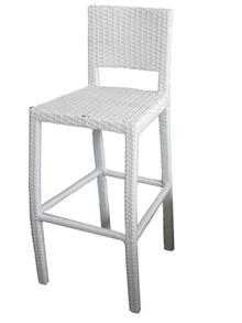 כסא בר לבן אלגנטי