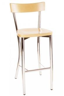 כסא בר מושב עץ