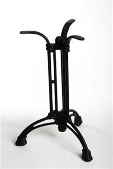 רגל שולחן שחורה