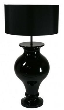 מנורת שולחן שחורה
