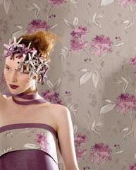 טפט פרחים סגולים