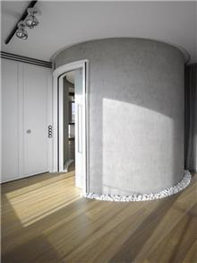 דלת עגולה מרשימה