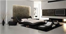 מיטה זוגית בעיצוב גלי