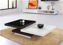שולחן קפה שחור לבן