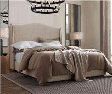 מיטה מרופדת מודרנית בז'