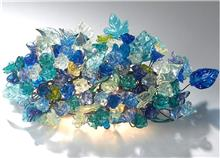 מנורה בגווני כחול - יהודה אוזן