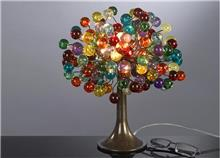 מנורת שולחן צבעונית - יהודה אוזן