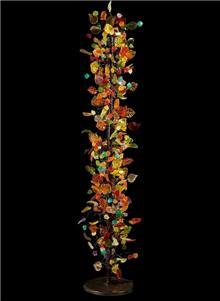 מנורה עומדת צבעונית - יהודה אוזן