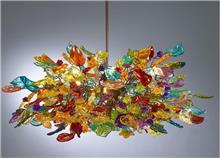 מנורת תקרה צבעונית - יהודה אוזן