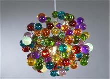 מנורה צבעונית