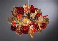 מנורת תליה פרחים - יהודה אוזן
