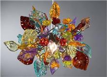 מנורה צבעונית - יהודה אוזן