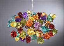 מנורת פרחים צבעונית - יהודה אוזן
