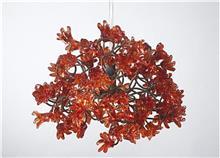 מנורת פרחים אדומים - יהודה אוזן