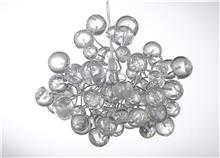מנורת כדורים שקופים