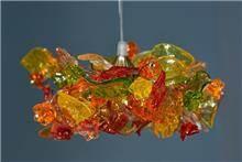מנורת פרחים תלויה - יהודה אוזן