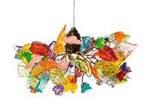 מנורה תלויה צבעונית - יהודה אוזן