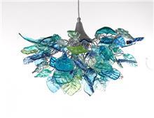 מנורת תלייה עלים בצבע ים
