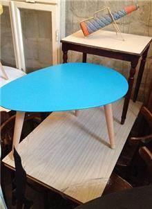 שולחן קפה כחול