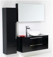 ריהוט אמבטיה שחור