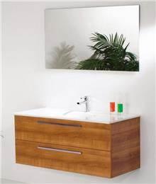 ריהוט אמבטיה בגוון טבעי