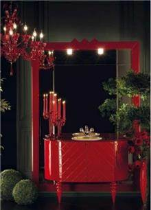 ריהוט אמבטיה אדום