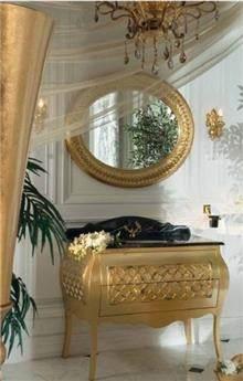 ריהוט אמבטיה מוזהב