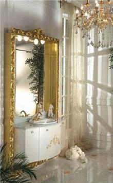ריהוט אמבטיה משולב זהב