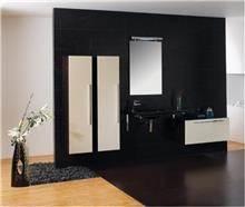 ריהוט אמבטיה לבן שחור