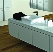 כיור אמבטיה לבן מונח