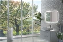 ארון אפור לאמבטיה