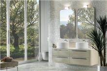 ארון לבן לאמבטיה