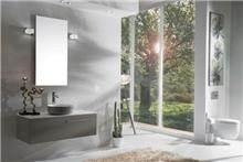 ארון אמבטיה בגוון אפור