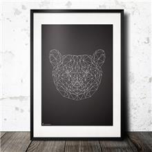 הדפס גאומטרי ראש דוב - Stola12  פוסטרים מעוצבים