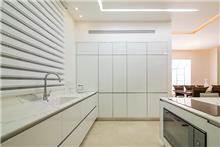 מטבח לבן מזכוכית - Samgal concept