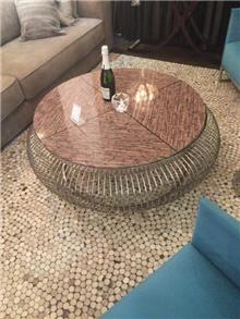 שולחן סלון נירוסטה