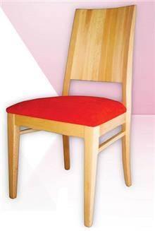 כסא עם ריפוד אדום