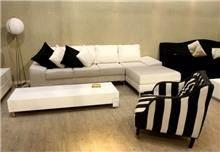 כורסא מרווחת שחור ולבן