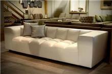 ספה תלת מושבית לבנה