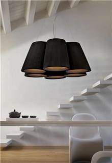 מנורת תקרה חומה