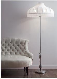 מנורה לבנה עומדת