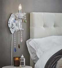 מנורת קיר קריסטלים