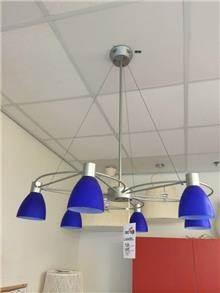 מנורת תליה כחולה