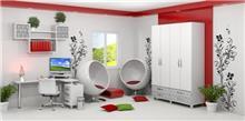 חדר ילדים בגוון לבן - אלוף המזרונים