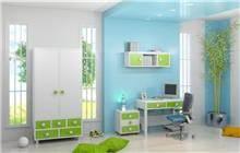 חדר ילדים ירוק לבן