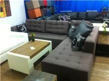 ספה חומה קפיטונז'