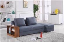 ספה כחולה פינתית - אלוף המזרונים