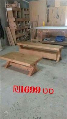 סט שולחן ומזנון לסלון - אלוף המזרונים